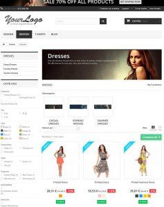 Página de Productos en la versión 1.6 de PrestaShop